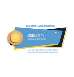 flat linear promotion ribbon banner scroll price vector image