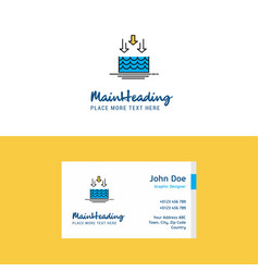 Flat water evaporation logo and visiting card vector
