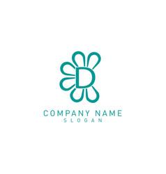 flower d logo vector image