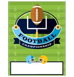 Football Championship Flyer Template vector image