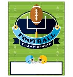 Football championship flyer template vector