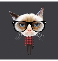 Funny cartoon cat vector