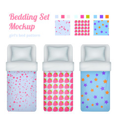 girlish bed cloths collection vector image