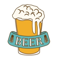 Glass beer icon image design vector