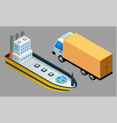 global freight transportation flat design vector image