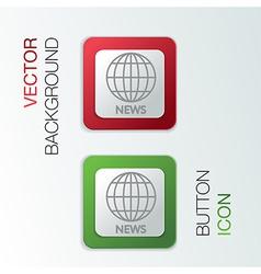 globe symbol news vector image