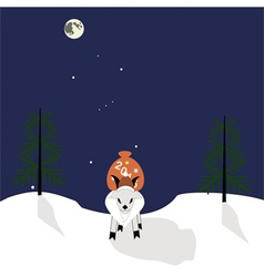 Goat with a gifts vector image