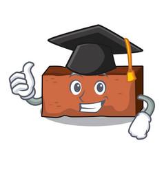 Graduation brick character cartoon style vector