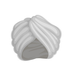 Gray turban on white vector