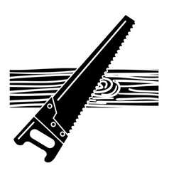 Handsaw carpentry isolated icon vector