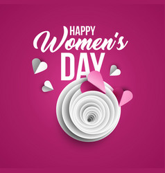 happy women s day poster template vector image
