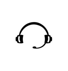 headphone icon in flat style for app ui websites vector image
