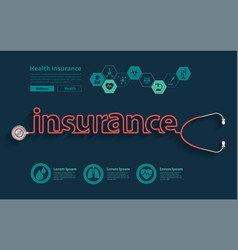 health 2017health insurance ideas concept vector image
