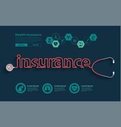health 2017health insurance ideas concept vector image