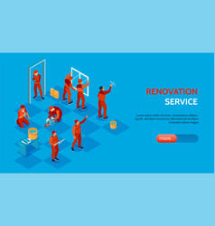 home repair service banner vector image