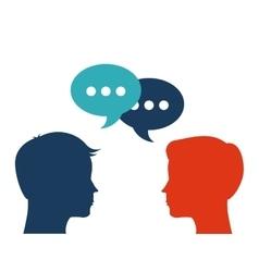 Human head design Communication concept vector