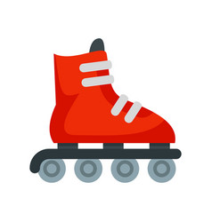 Inline skates icon flat style vector
