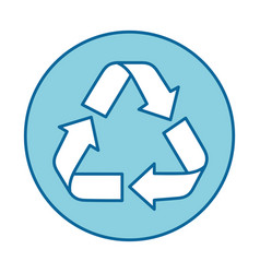 Isolated recycle round icon vector