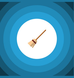 Isolated witch broomstick flat icon broom vector