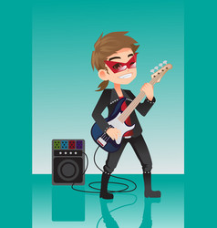 Kid rocker vector