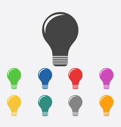 Light lamp sign icon flat vector