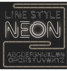 linear font - simple and minimalistic vector image