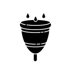 menstrual cup black glyph icon vector image