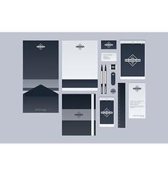 Modern corporate identity template design Flat vector