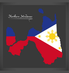 northern mindanao map of the philippines with vector image