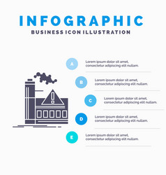 Pollution factory air alert industry infographics vector