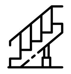 Reconstruction stairs icon outline style vector