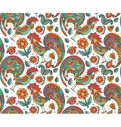 seamless pattern with ornate floral vector image
