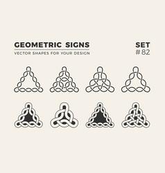 set of eight minimalistic trendy shapes stylish vector image