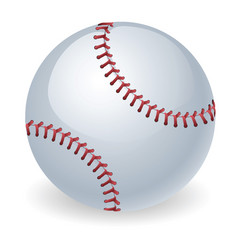 Shiny baseball ball vector