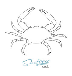 Silhouette crab linear silhouette crab crab vector