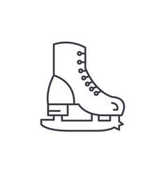 skates line icon concept skates linear vector image