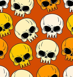 Skull seamless pattern Texture of head skeleton vector image