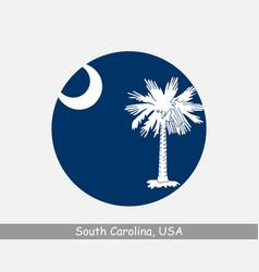 south carolina round circle flag vector image