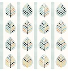 Spring leaf pattern vector image