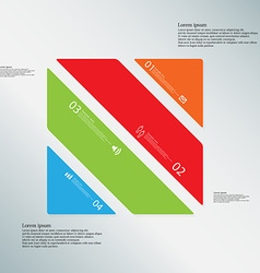 Square template consists of four color parts on vector