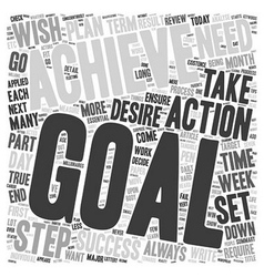 Steps To Achievable Goals text background vector