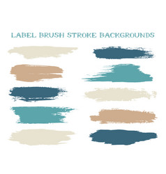 textured label brush stroke backgrounds vector image
