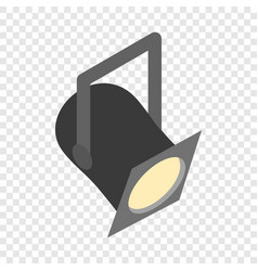 theater spotlight isometric icon vector image