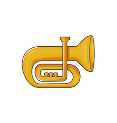 tuba music instrument vector image