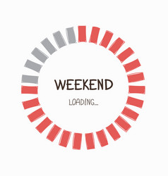 Weekend progress bar vector