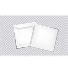 white box with lid set aside looking inside vector image
