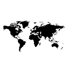 world map free hand style free from map vector image