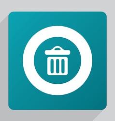 flat trash bin icon vector image