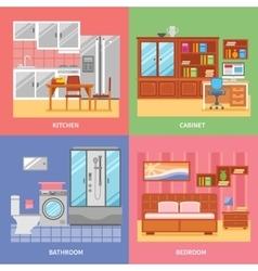 Interior Room Set vector image vector image