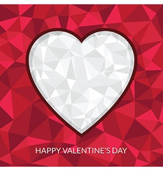 valentine heart decoration vector image vector image